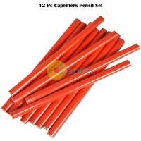 12x Carpenter Pencil Carpentry Pencils Bulk Joiner Woodwork Builders Plumber New