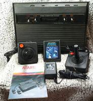 Atari 2600 system (Black/VADER) CIB Complete  Tested Has Issues Read Description