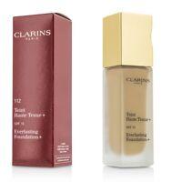 NEW Clarins Everlasting Foundation+ SPF15 (# 112 Amber) 30ml/1.2oz Womens Makeup