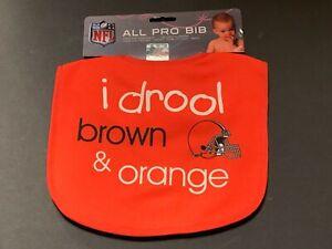 "Cleveland Browns ""I Drool"" Baby Bib [NEW] Druel Newborn Infant Boy Girl"