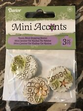 Miniature Fairy Garden Stepping Stones ~Peace, Hope, Believe ~ New In Package