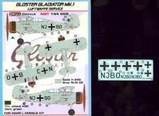 KORA Models Decals 1/144 GLOSTER GLADIATOR Mk.I Captured Luftwaffe Version