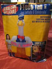 Airblown Inflatable 7ft Gemmy NEW Born Announcement It's a BOY/GIRL Stork LIGHTS