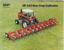 Massey Ferguson Vintage 1980 Sales Advertising Brochure 440 Row Crop Cultivator