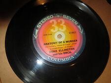 "33RPM 7"" Columbia 30421 Duke Ellington, Anatomy Murder / Flirtibird nice E E E-"