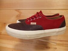 VANS California Red Suede Brown Leather Era 59 Trainers US 7.5 UK 6.5
