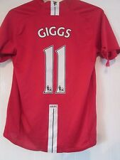 Manchester United 2007-2008 Home Giggs Football Shirt Size Small /41251