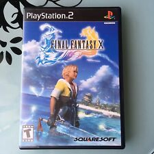 Final Fantasy X 10 Sony Playstation 2 PS2 Black Label Complete in Box CIB *Mint*