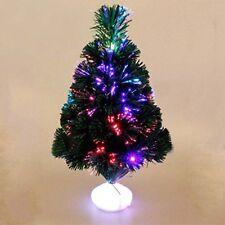 GREEN FIBRE OPTIC CHRISTMAS TREE COLOUR CHANGING - 1.5ft XMAS TREE 45cm