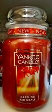 Yankee Candle Dazzling Red Maple Large Jar Candle 22 oz NEW White Label
