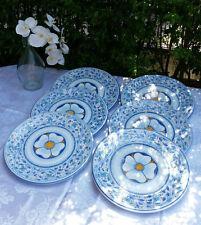 Ceramica Caltagirone 6 Piatti Porcellana Parete FRANCESCO NAVANZINO 2001 35 Cm
