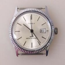 RARE Vintage Timex Datejust Mechanical Watch, Manual Hand Winding, Fluted Bezel