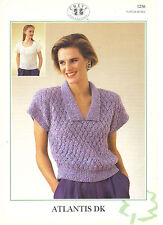 Chevy Atlantis DK KNITTING PATTERN sweater and top 1256