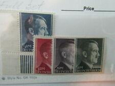 Germany Stamps,Post Hitler Head High Value Set 1-5 Mark Full Set of 4 Mnh Ng