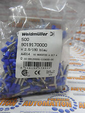 9019170000,  Wire end ferrule, 2.5 mm², 12 mm, Colour code: DIN, Blue 500/PKG