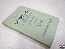 GEOMETRIE GEORGES FOULON programme 1938 classes 5 4 3 1 2 3 EPS école *