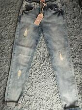 """DISTRESSED DENIM JEANS SKINNY FIT NEW WITH TAGS DUNNES 25"""" GIRLFRIEND STYLE"""