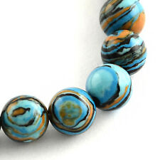 20 Multi Color Dyed Gemstone Beads with Beautiful Earth Tones 8mm - BD598