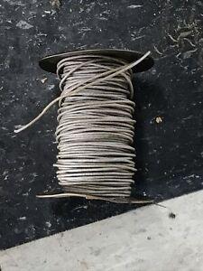 Western Electric 22GA Cloth/Silk Solid Grey Wire