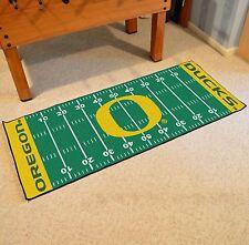"Oregon Ducks NCAA Football Field Runner Man Cave Area Rug Mat 29.5""x72"""