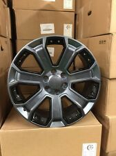 4 NEW 2015 GMC Wheels 20x8.5 OE Replica Hyper With Black Inserts Yukon Denali