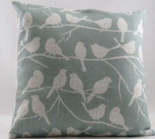 Duck Egg Blue with Printed Birds on Trees Evans Lichfield Cushion Cover