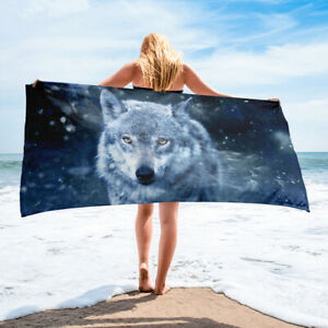 Wolf Themed Bath or Beach Towel