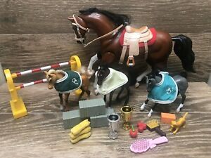 Vintage Grand Champions Horses Empire 2000  And Accessories
