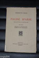 Pagine sparse - Benedetto Croce - Edizione Riccardo Ricciardi 1927