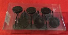 DARK BROWN ROUND DECORATIVE SHOWER CURTAIN HOOKS SET OF 12 NEW