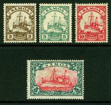 German Colonies - SAMOA 1915  Kaiser's YACHT set  Sc# 70-73  mint MH