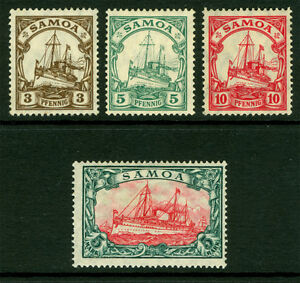 German Colonies - SAMOA 1915  Kaiser's YACHT set  Sc# 70-73a  mint MNH**