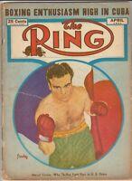 THE RING MAGAZINE MARCEL CERDAN BOXING HOFer COVER APRIL 1947