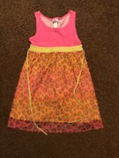 Girls Justice Size 8 Hot Pink Animal Print Sequins Dress Summer Look @ Lot