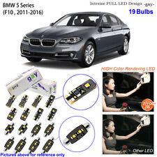 19 Bulbs LED Interior Dome Light Kit Xenon White For F10 2011-2016 BMW 5 Series