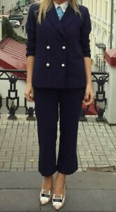 Jiin navy suit (jacket and pants), size 8 S