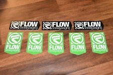 Lot of 8 Older Flow Snowboard Stickers snowboarding
