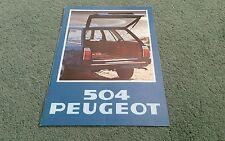 1978 PEUGEOT 504 L GL famille Estate Essence & Diesel 8/77 - Brochure Couverture Bleu