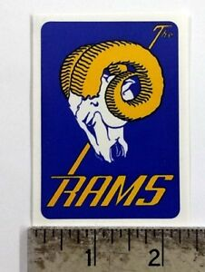 Vintage NFL Rams football logo sticker decal
