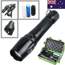 20000LM Tactical LED Flashlight T6 Torch Light Zoom Battery Rechargable