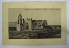 Church of Guadalupe Mexico JERSEY COFFEE Trade Card 1890's Ad Antique Vintage