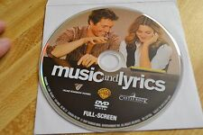 Music and Lyrics (DVD, 2007)Full Screen Disc only Free Shipping