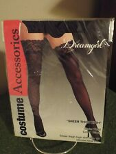 Dreamgirl costume Accessories Sheer Thigh High Style 7030 Black Size 0/S