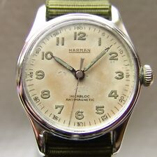 MEN'S HARMAN collection WWII period MILITARY STYLE WRISTWATCH good condition