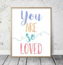 You Are So Loved, Nursery Decor Girl, Printable Quotes, Inspirational Wall Art