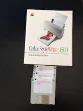 Apple Manual plus floppy disks: Color StyleWriter 1500    030-9903-A