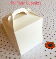 30  TALLER  Single Cupcake ~~~ boxes with Insert/holder  90 x 80 mm