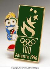 OLYMPIC PINS 1996 ATLANTA MASCOT IZZY WITH LOGO DESIGN