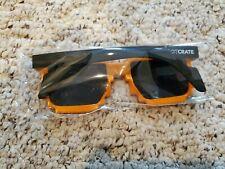 LOOTCRATE Exclusive Sunglasses Orange Black Glasses Gamer 8-Bit pixel Loot Crate