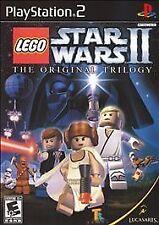LEGO Star Wars II 2 PS2 Game Case & Manual Video Playstation 2 Original Trilogy